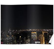 Night over Central Park and Uptown Manhattan Poster