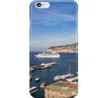 Postcard from Sorrento, Italy - the Harbor, the Boats, and the Famous Clifftop Hotels iPhone Case/Skin