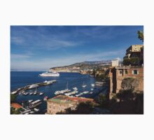Postcard from Sorrento, Italy - the Harbor, the Boats, and the Famous Clifftop Hotels One Piece - Short Sleeve