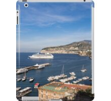 Postcard from Sorrento, Italy - the Harbor, the Boats, and the Famous Clifftop Hotels iPad Case/Skin