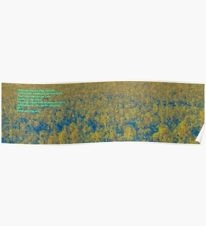 Greeting Card: Yellow Daubs the Fields Poster