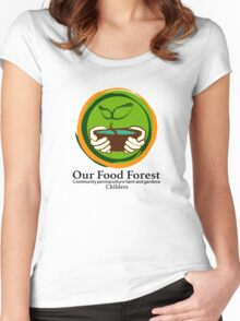 Our Food Forest Women's Fitted Scoop T-Shirt