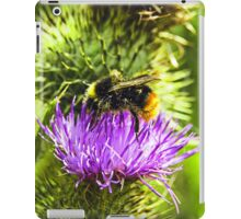 bee on thistle with insects iPad Case/Skin