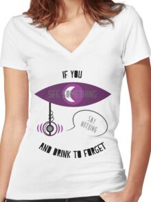 If You See Something Women's Fitted V-Neck T-Shirt