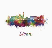 Siena skyline in watercolor Kids Tee