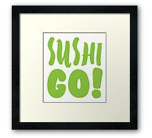 SUSHI GO! Framed Print