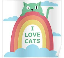 I love cats! Poster