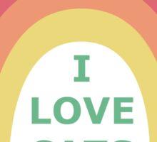 I love cats! Sticker