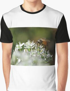 Honey bee on chive flower Graphic T-Shirt