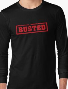 Busted Red Long Sleeve T-Shirt