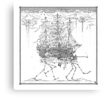 Strolling Ship Canvas Print