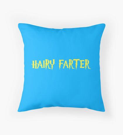 Hairy Farter Throw Pillow
