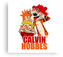 Calvin and Hobbes Time Canvas Print