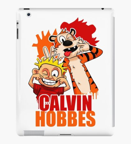 Calvin and Hobbes Time iPad Case/Skin