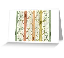 Seamless pattern with trees, light Greeting Card