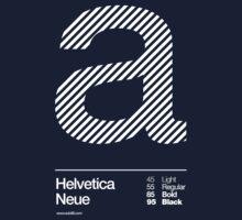 a .... Helvetica Neue Kids Tee