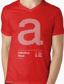 a .... Helvetica Neue Mens V-Neck T-Shirt