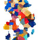 Puzzle tiles colorful by RosiLorz