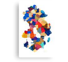 Puzzle tiles colorful Canvas Print