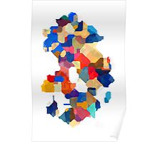 Puzzle tiles colorful Poster