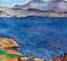 1885 - Paul Cezanne - The Bay of Marseilles, Seen from L'Estaque Sticker