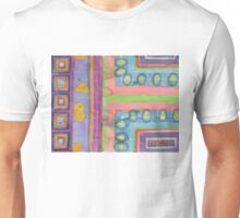 Strolling in a colorful city Unisex T-Shirt