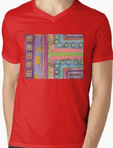 Strolling in a colorful city Mens V-Neck T-Shirt