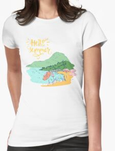 At the beach Womens Fitted T-Shirt