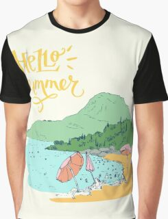 At the beach Graphic T-Shirt