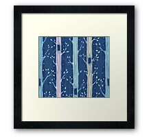 Seamless pattern with trees Framed Print