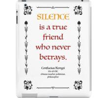 Confucius about Silence iPad Case/Skin