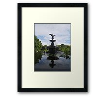 Reflections at Bethesda Fountain Framed Print