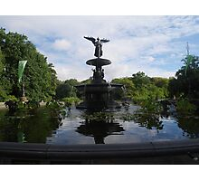 Bethesda Fountain Reflections Photographic Print