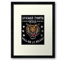 Savage Roots MMA Tiger WHT Framed Print