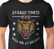 Savage Roots MMA Tiger WHT Unisex T-Shirt