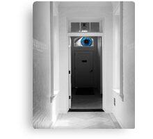 Peeking in the door Canvas Print