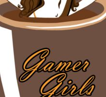 coffee culies ,gamer girl,hot,sweet,and hard to defeat Sticker
