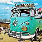 VW Surf Bus Strange Day at the Beach by ChasSinklier