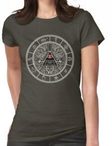 Gravity Falls Bill Cipher Wheel 2  Womens Fitted T-Shirt