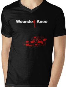 WOUNDED KNEE Mens V-Neck T-Shirt