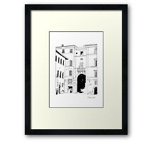 Italy piazza Framed Print