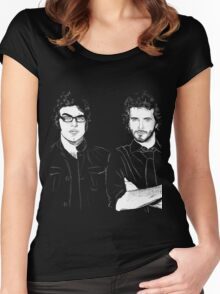 FOTC Transparent and White Women's Fitted Scoop T-Shirt