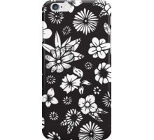 Black and White Hand Drawn Flowers and Foliage iPhone Case/Skin