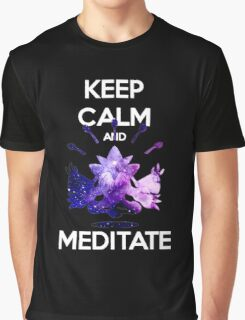 Keep Calm and Meditate! Graphic T-Shirt