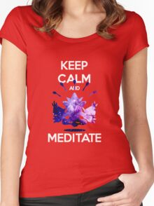 Keep Calm and Meditate! Women's Fitted Scoop T-Shirt