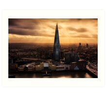 London from the Sky Garden Art Print