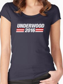 Underwood 2016 - White Women's Fitted Scoop T-Shirt