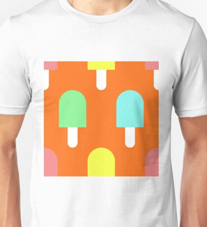 Fruity Iced Lollies on Orange Unisex T-Shirt