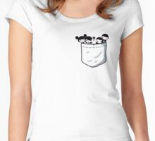 Chibi Emo Goth Pocket Women's Fitted Scoop T-Shirt