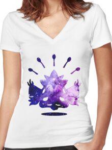 Cosmic Mega Alakazam! Women's Fitted V-Neck T-Shirt